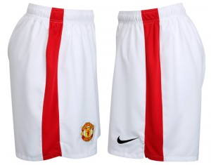 09-10 Manchester United Home Short Kids