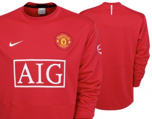 09-10 Manchester United Light Weight Training Top Long Sleeved