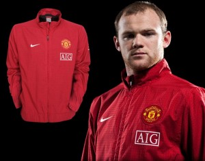 09-10 Manchester United Woven Warm Up Jacket