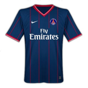 09-10 PSG Home Shirt Kids