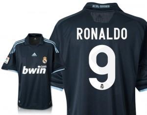 09-10 Real Madrid Away Shirt Ronaldo 9 Kids