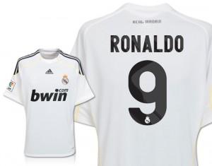 09-10 Real Madrid Home Shirt Ronaldo 9 Kids
