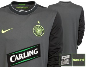 09-11 Celtic Away Goalkeeper Shirt Sponsor