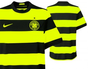 09-11 Celtic Away Shirt No Sponsor