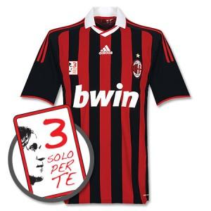 09-10 AC Milan Home Shirt + Free Maldini 3 Solo Per Te Patch