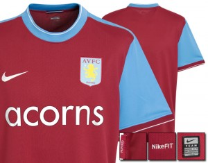 09-10 Aston Villa Home Shirt Kids