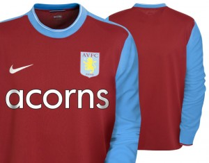 09-10 Aston Villa Home Shirt Long Sleeved