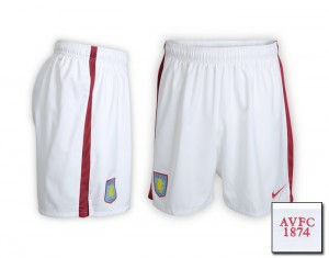 09-10 Aston Villa Home Shorts Kids