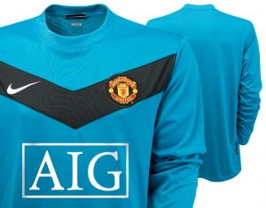 09-10 Manchester United Away Goalkeeper Shirt