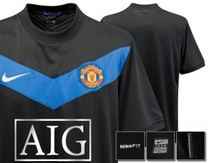 09-10 Manchester United Away Shirt Kids