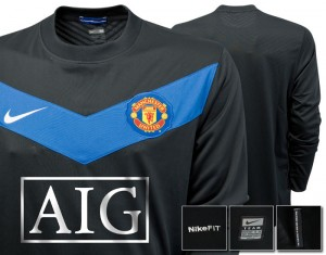 09-10 Manchester United Away Shirt Long Sleeved