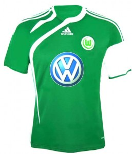 09-10 Vfl Wolfsburg Away Shirt