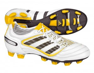 Adidas Predator X Firm Ground Soccer Boots White Yellow