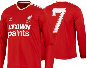 86-87 Liverpool Home Shirt Long Sleeved