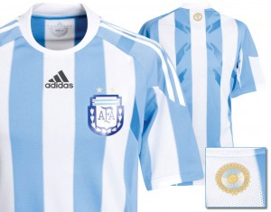 09-10 Argentina Authentic Home Shirt