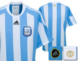 09-10 Argentina Home Shirt Kids
