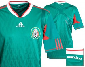 09-10 Mexico Authentic Home Shirt