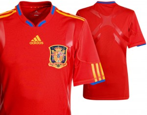 09-10 Spain Authentic Home Shirt