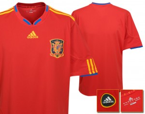 09-10 Spain Home Shirt Kids