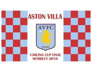 2010 Carling Cup Final Aston Villa Flag