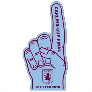 2010 Carling Cup Final Aston Villa Foam Hand