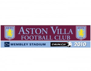2010 Carling Cup Final Aston Villa Sticker