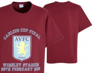 2010 Carling Cup Final Aston Villa T-Shirt
