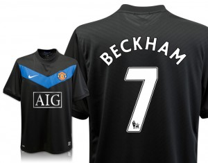 09-10 Manchester United Away Shirt Beckham 7