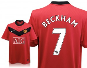 09-10 Manchester United Home Shirt Beckham 7