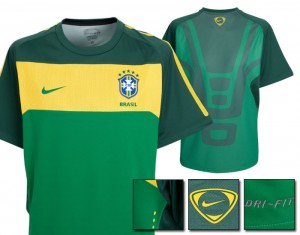 10-11 Brazil Elite Training Jersey Green