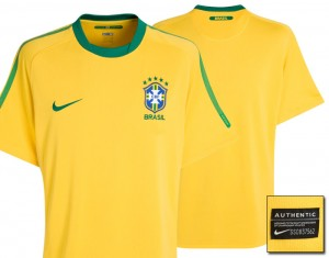 10-11 Brazil Home Shirt