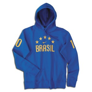10-11 Brazil Hooded Top Blue