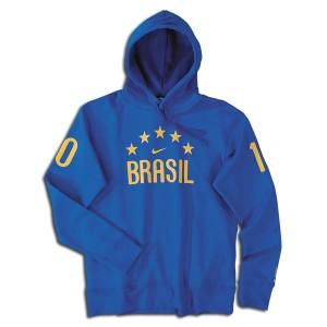 10-11 Brazil Hooded Top Blue