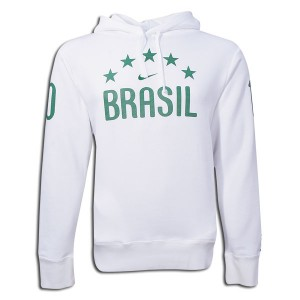 10-1 Brazil Hooded Top White