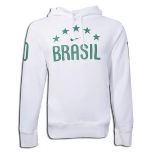 10-1 Brazil Hooded Top White