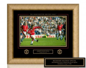 Manchester United Vault Beckham's Half Way Special Iconic Image