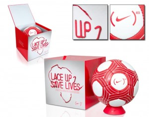 Nike RED Ascente Football (Soccer Ball)