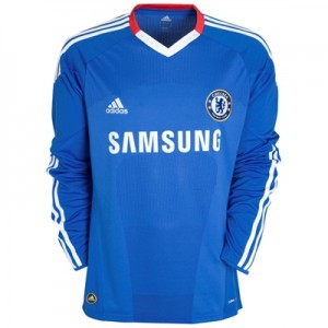 10-11 Chelsea Home Shirt Long Sleeved