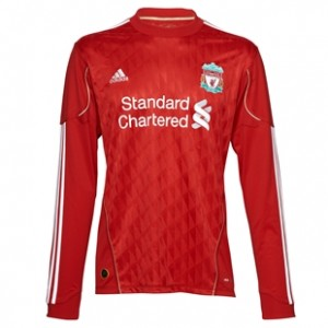 10-12 Liverpool Home Shirt Long Sleeved