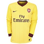 10-11 Arsenal Away Shirt Long Sleeved