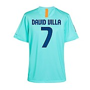 10-11 Barcelona Away Shirt David Villa 7