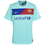10-11 Barcelona Away Shirt Kids
