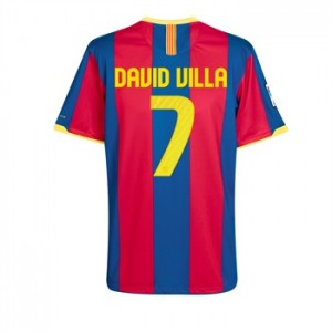 10-11 Barcelona Home Shirt David Villa 7