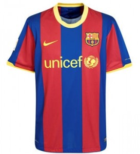 10-11 Barcelona Home Shirt Kids