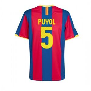 10-11 Barcelona Home Shirt Puyol 5