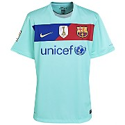 10-11 Barcelona World Champions Away Shirt Kids