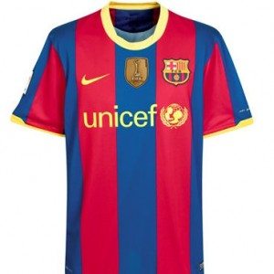 10-11 Barcelona World Champions Home Shirt Kids