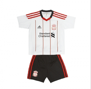 10-11 Liverpool Away Mini Kit Little Boys