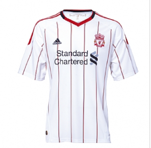 10-11 Liverpool Away Shirt Kids