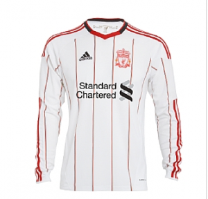 10-11 Liverpool Away Shirt Long Sleeved